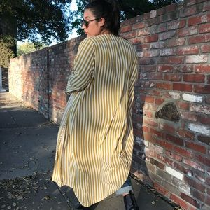 PrettyLittleThing Jackets & Coats - Striped Duster